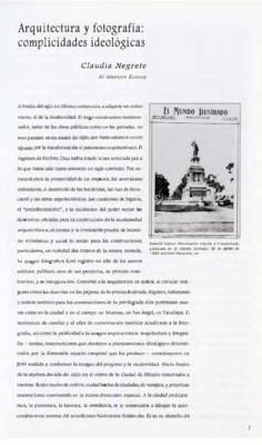 Arquitectura y fotografía: complicidades ideológicas