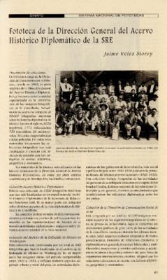 Fototeca de la Dirección General del Acervo Histórico Diplomático de la SRE