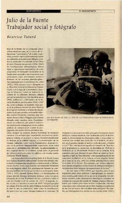 Julio de la Fuente Trabajador social y fotógrafo