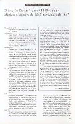Diario de Richard Carr (1818-1888) México: diciembre de 1845 - noviembre de 1847