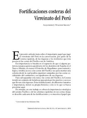 Fortificaciones costeras del Virreinato del Perú
