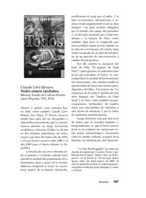 Claude Lévi-Strauss. Todos somos caníbales, México, Fondo de Cultura Económica (Popular, 723), 2014.