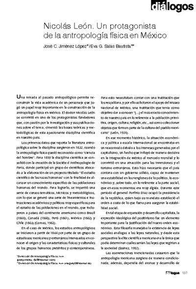 Nicolás León. Un protagonista de la antropología física en México