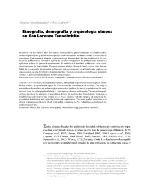 Etnografía, demografía y arqueología olmeca en San Lorenzo Tenochtitlán