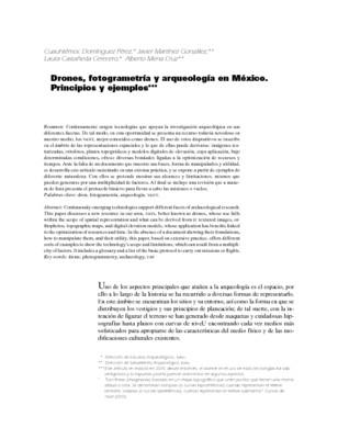 Drones, fotogrametría y arqueología en México. Principios y ejemplos