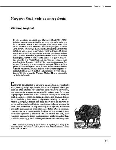 Margaret Mead: todo es antropología