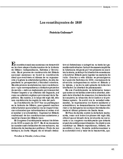 Los constituyentes de 1856