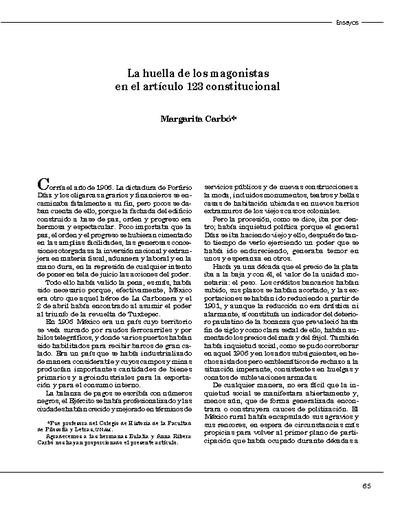 La huella de los magonistas en el artículo 123 constitucional