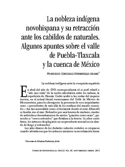 La nobleza indígena novohispana y su retracción ante los cabildos de naturales. Algunos apuntes sobre el valle de Puebla-Tlaxcala y la cuenca de México