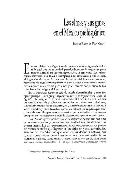 Las almas y sus guías en el México prehispánico