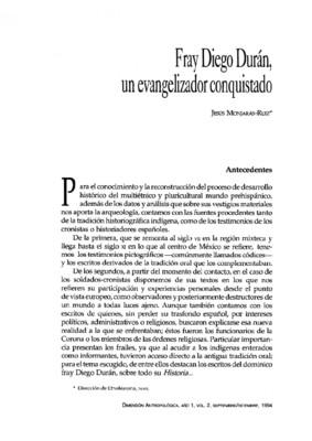 Fray Diego Durán, un evangelizador conquistado