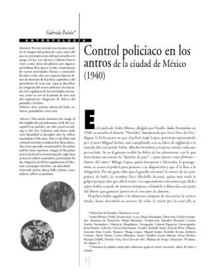 Control policiaco en los antros de la ciudad de México (1940)