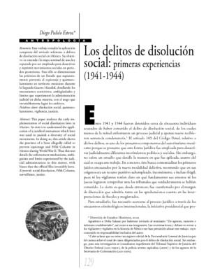 Los delitos de disolución social: primeras experiencias (1941-1944)