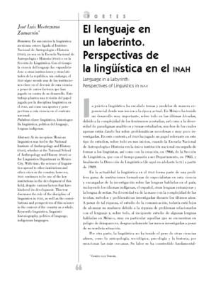 El lenguaje en un laberinto. Perspectivas de la linguística