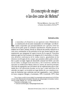 El concepto de mujer o las dos caras de Helena