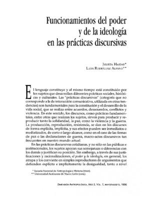 Funcionamientos del poder y de la ideología en las prácticas discursivas