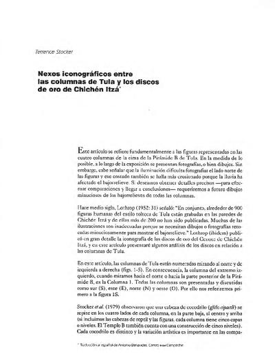Nexos iconográficos entre las columnas de Tula y los discos de oro de Chichén Itzá