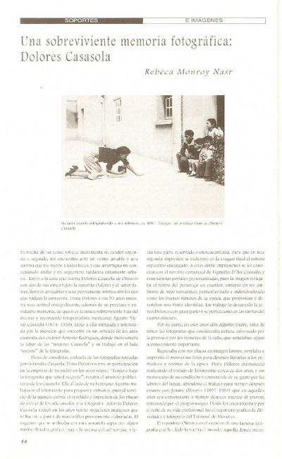 Una sobreviviente memoria fotográfica: Dolores Casasola