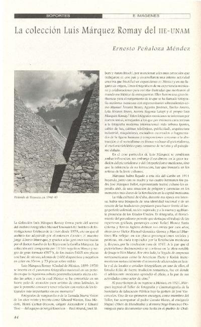 La colección de Luis Márquez Romay del IIE-UNAM
