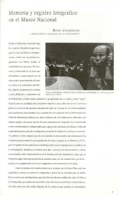 Memoria y registro fotográfico en el Museo Nacional