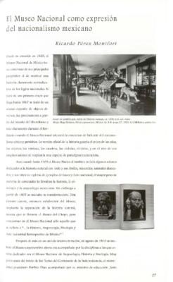 El Museo Nacional como expresión del nacionalismo mexicano
