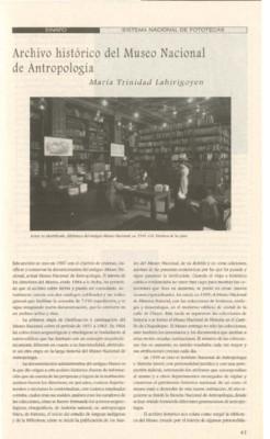 Archivo histórico del Museo Nacional de Antropología