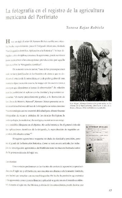 La fotografía en el registro de la agricultura mexicana del Porfiriato