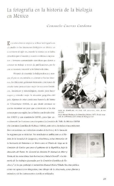 La fotografía en la historia de la biología en México