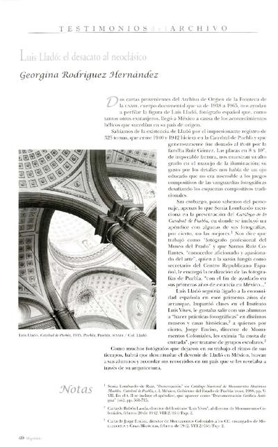 Luis Lladó: el desacato al neoclásico