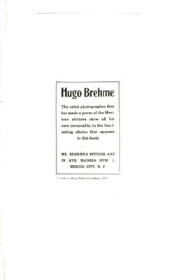 Hugo Brehme o la construcción nacional