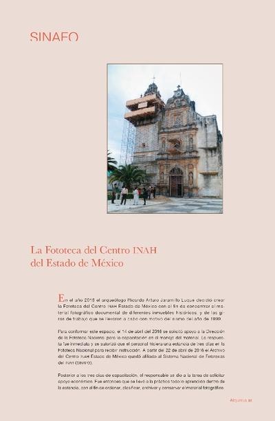 La Fototeca del Centro INAH del Estado de México