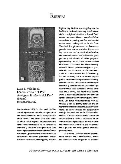 Luis E. Valcárcel, Etnohistoria del Perú Antiguo. Historia del Perú (Incas), México, FCE, 2012.