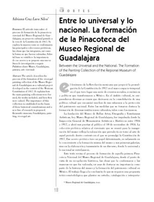 Entre lo universal y lo nacional. La formación de la Pinacoteca del Museo Regional de Guadalajara