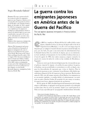 La guerra contra los emigrantes japoneses en América antes de la Guerra del Pacífico