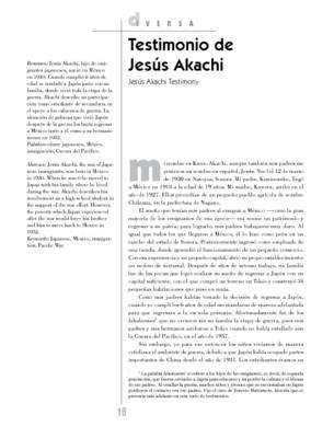 Testimonio de Jesús Akachi