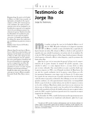 Testimonio de Jorge Ito
