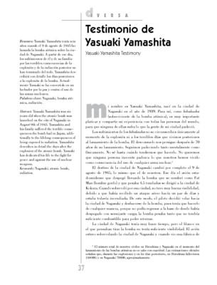 Testimonio de Yasuaki Yamashita