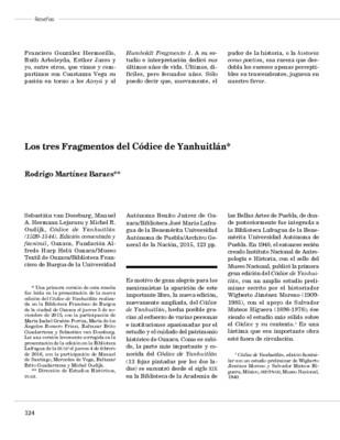 Los tres Fragmentos del Códice de Yanhuitlán
