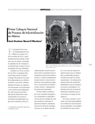 Primer Coloquio Nacional de Procesos de Industrialización en México
