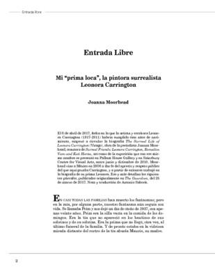 "Mi ""prima loca"", la pintora surrealista Leonora Carrington"