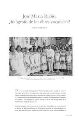 José María Rubio, ¿fotógrafo de las élites yucatecas?