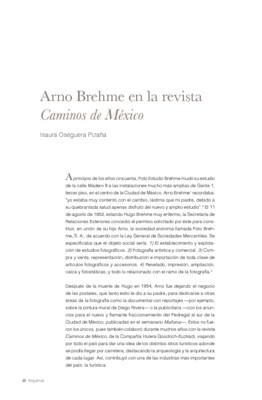 Arno Brehme en la revista Caminos de México