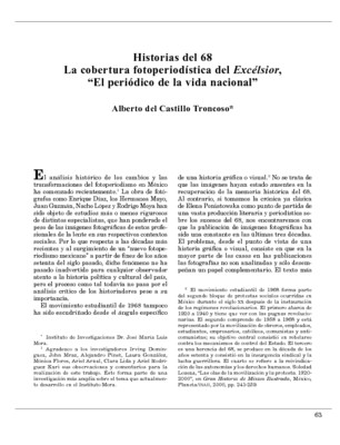 "Historias del 68. La cobertura fotoperiodística del Excélsior, ""El periódico de la vida nacional"""