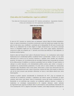 Cien años de Constitución: ¿qué se celebró?