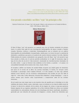 """Con pecado concebido: un libro """"rojo"""" de principio a fin"""