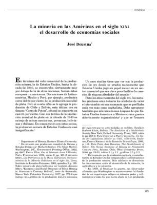 La minería en las Américas en el siglo XIX: el desarrollo de economías sociales