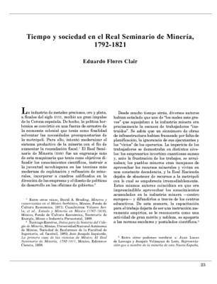 Tiempo y sociedad en el Real Seminario de Minería, 1792-1821