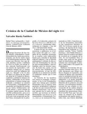 Crónica de la Ciudad de México del siglo XVI