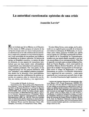 La autoridad cuestionada: epístolas de una crisis