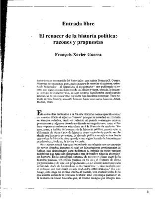 El renacer de la historia política: razones y propuestas